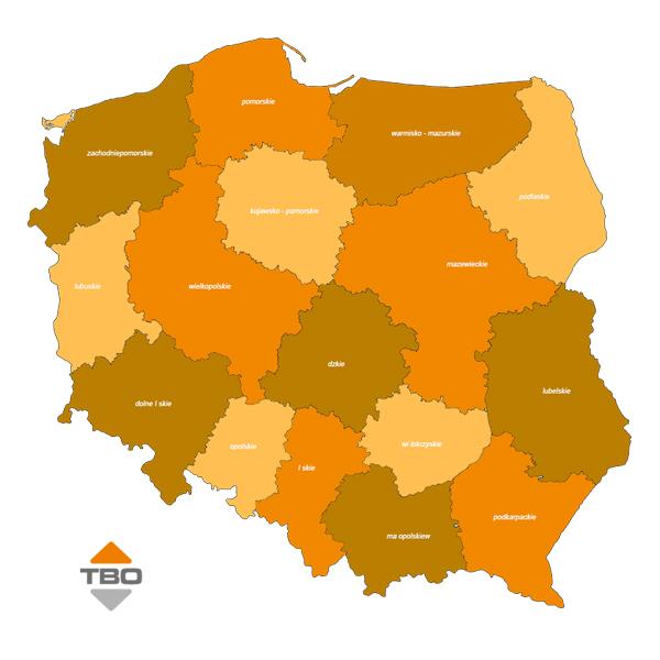 Obsługa w całej Polsce i sprzedaż dźwigów TBO